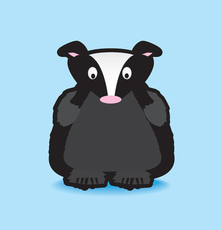 badger: Funky vector  illustration of a badger with a chunky black outline