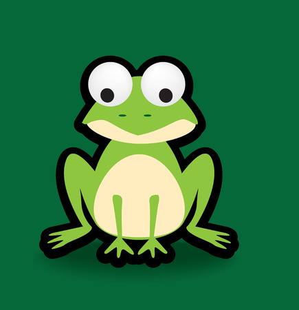 Funky vector illustration of a frog with a chunky black outline Stock Vector - 4553510