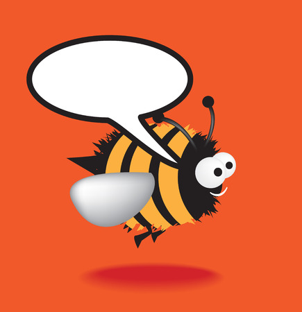 Funky vector illustration of a bumble bee with a chunky black outline Vector