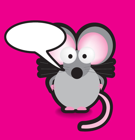 Funky vector illustration of a mouse with a chunky black outline Vector