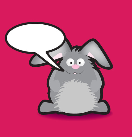 Funky vector illustration of a rabbit with a chunky black outline Vector