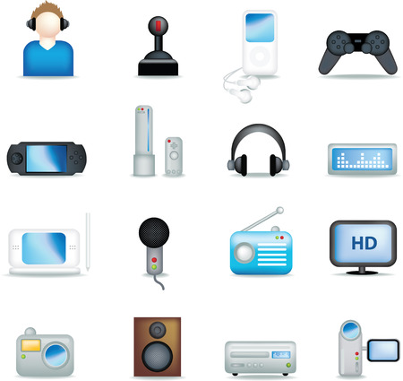 entertainment industry: A set of modern icon illustrations for the entertainment industry Illustration