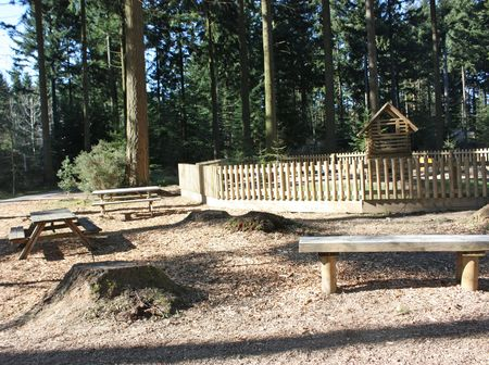 Picnic and play area in the woods in bristol, uk Stock Photo - 4661963