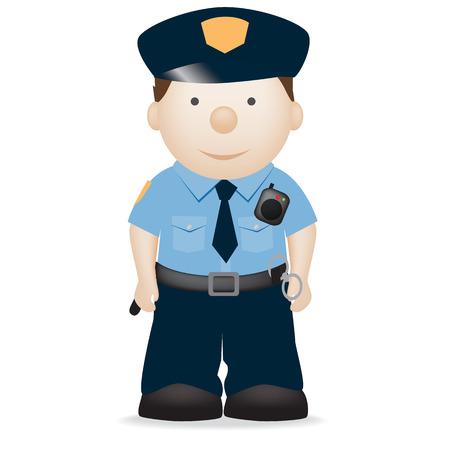policier: Illustration caract�re vectoriel d'un officier de police am�ricaines Illustration