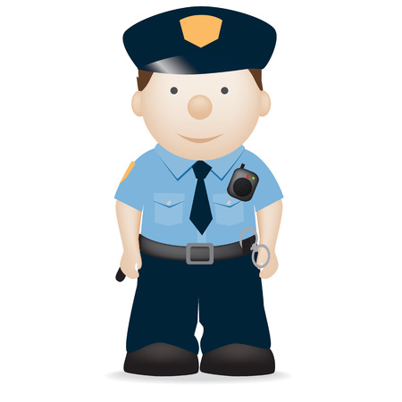 cops: vector character illustration of an american police officer