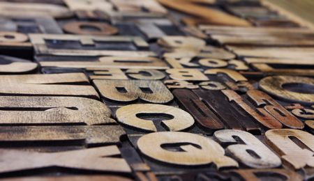 Letterpress side view, strong depth of field Stock Photo - 4713480