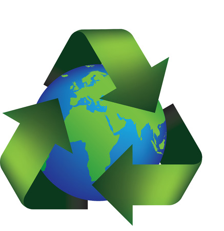 Vector illustration of the earth in a recycle symbol Stock Vector - 4730475