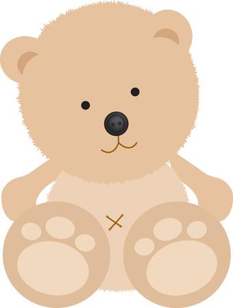 vintage teddy bears: Isolata orsacchiotto con pulsante sul naso bianco
