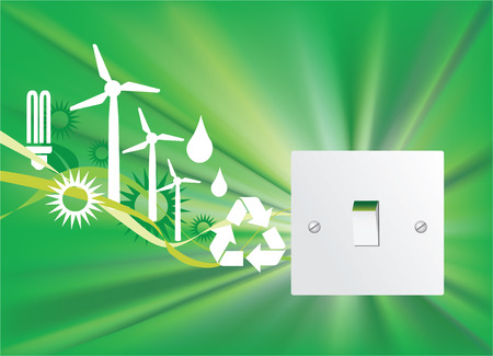 Illustration of a eco friendly home switch Stock Vector - 4759013
