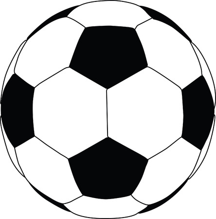 football silhouette: Illustrazione di una silhouette di calcio da vicino Vettoriali
