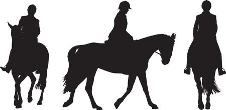 Illustration of  a girl riding a horsek Illustration