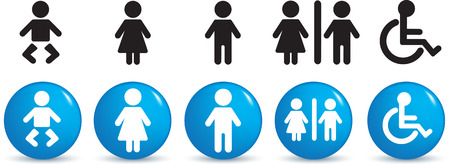 Illustration of  a set of people signage Stock Vector - 4812716