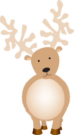 Illustration of  a reindeer looking at camera Vector