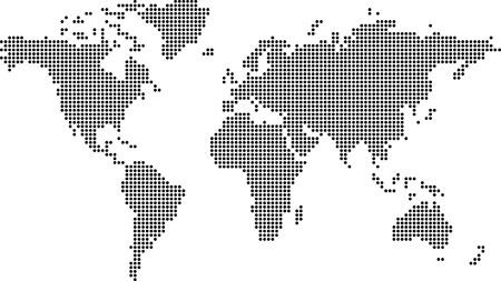 Illustration de la terre à plat faites de points Vecteurs