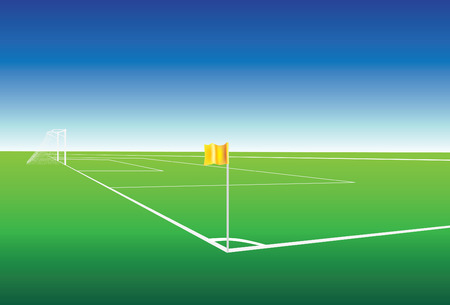 corner flag: Illustration of  a football pitch corner flag