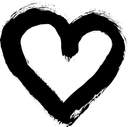 Illustration of a painted grunge style heart Vector