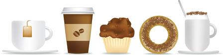 caf� � emporter: petit-d�jeuner de th� et de caf�, des g�teaux pour aller