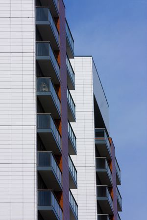 south london: modern apartment blocks in dockland south london Stock Photo