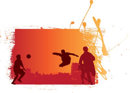 grunge and urban style football soccer illustration Vector
