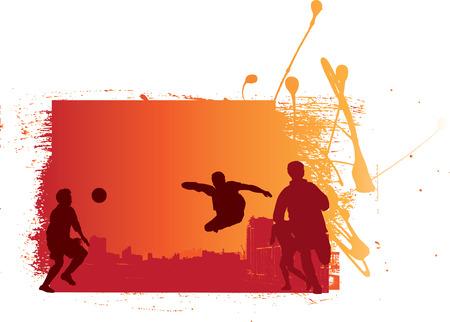 estilo urbano: grunge y estilo urbano f�tbol F�tbol ilustraci�n