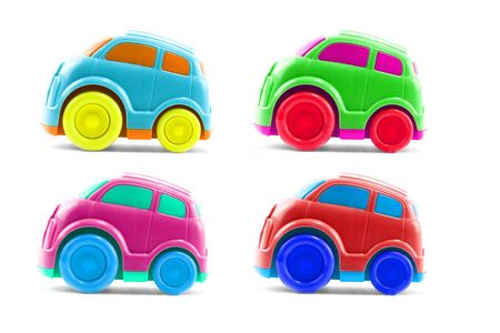 plastic toys: set of 4 plastic childrens toy cars