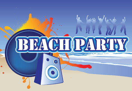 illustration of a beach party invite or flyer Vector