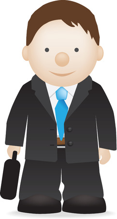 illustration of a work or business man in suit Vector
