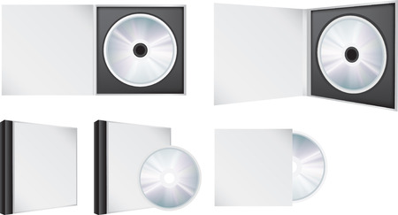 blank illustration visual of a cd in and out of box