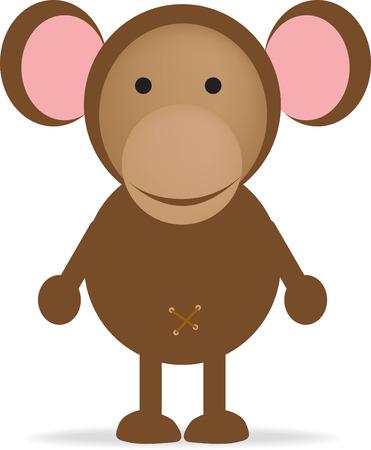 cheeky monkey cartoon Illustration