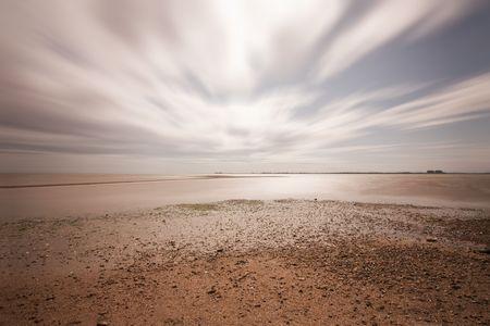 Long exposure at the beach at mersea, essex