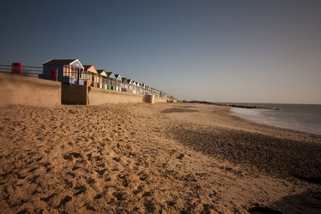 southwold: Photo of beach huts at southwold at dawn