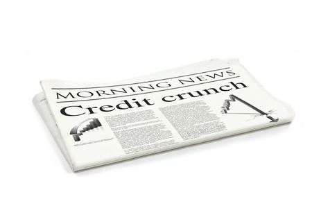 credit crunch headline on a generic design newspaper Stock Photo - 5565852