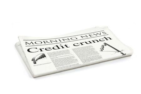 credit crunch headline on a generic design newspaper Stock Photo - 5565852