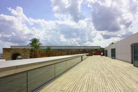 penthouse: modern decking area as in a modern penthouse or gallery