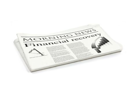 broadsheet: financial recovery newspaper generic mock up design