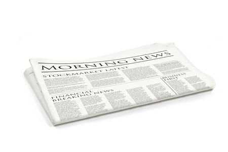 Generic design of a newspaper called morning news Stock Photo - 5565901