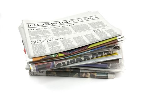 Generic design of a newspaper called morning news photo
