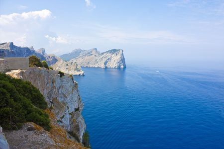 cap de formentor view from majorca northern point photo