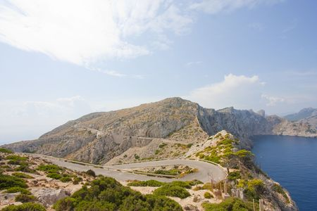 winding mountain road in formentor northern majorca photo