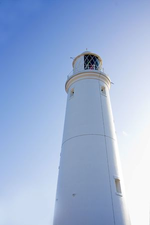 southwold: lighthouse at southwold with blue summer sky Stock Photo
