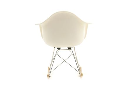 modern design classic eames rocking chair on white background photo