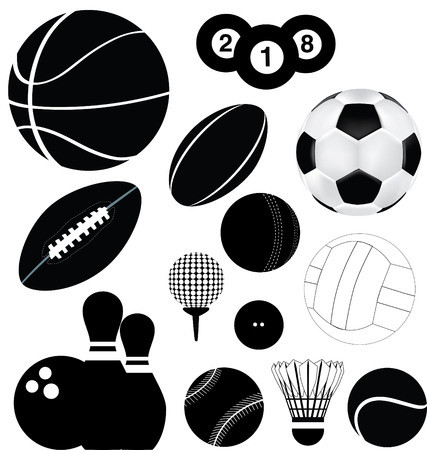 Deatiled illustration of a series of world wide sports Stock Vector - 5773461