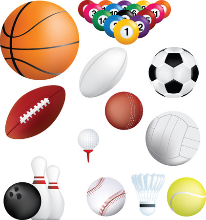 Deatiled illustration of a series of world wide sports Vector