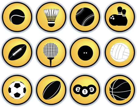 Detailed illustration of a series of world wide sports Stock Vector - 5773462