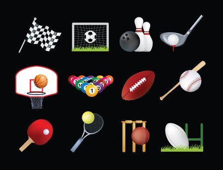 Detailed illustration of a series of world wide sports Vector
