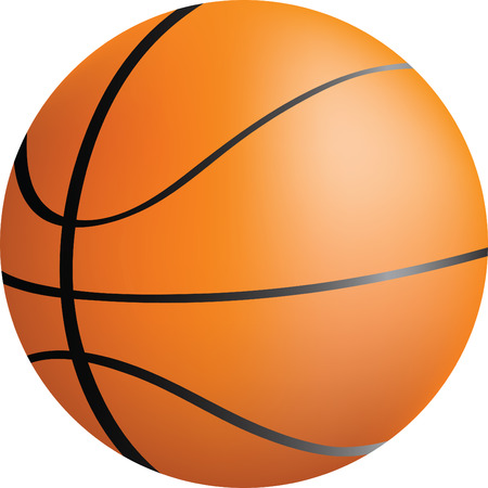simple icon style illustration of a basket ball