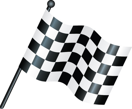 simple icon style illustration of a chequered flag Vector