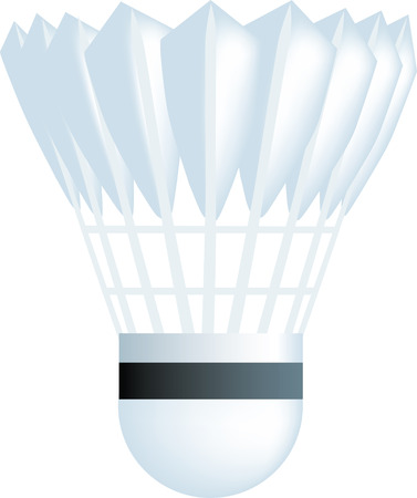 shuttlecock: simple icon style illustration of a badminton shuttlecock Illustration