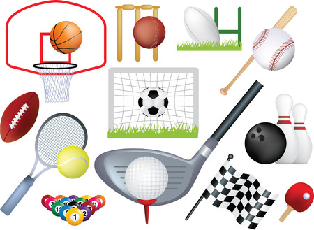 detailed  montage of different types of sport Vector