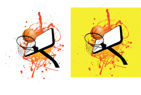 nba: grunge style illustration on a white background Illustration